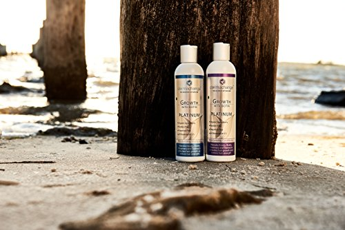 Hair Growth Organic Shampoo & Conditioner Set - With Biotin and Argan Oil - Supports Regrowth & Prevents Hair Loss - For Dry Damaged & Color-Treated Hair - Sulfate & Paraben Free (16oz) - Made in USA by DermaChange (Image #6)