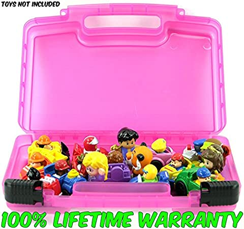 Life Made Better Toy Storage Organizer. Fits Up To 30 Mini Figures. Compatible With Fisher Price Little People Mini Figures TM And (Little People Sonya Lee)