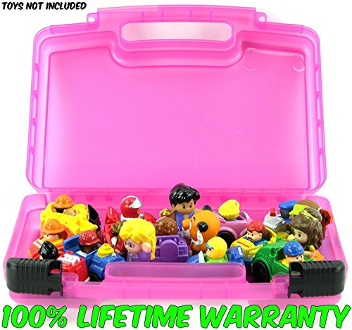 Life Made Better Toy Storage Organizer. Fits Up To 30 Mini Figures. Compatible With Fisher Price Little People Mini Figures TM And Accessories