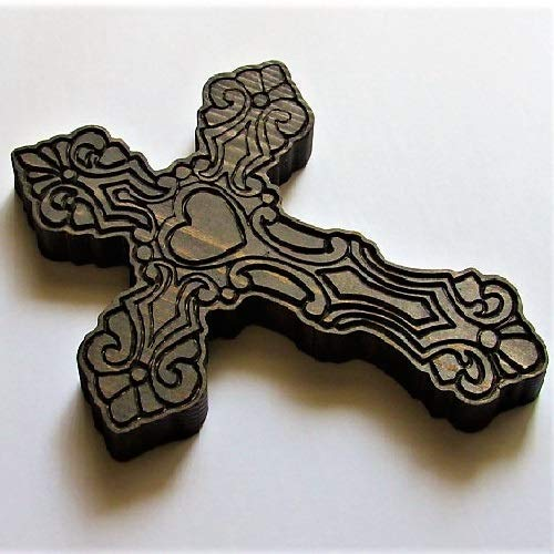 Handmade Rustic Wooden Carved Celtic Cross For Wall Décor