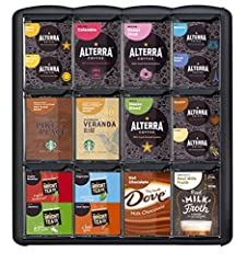 Showcases a wide selection of Flavia coffees, teas, chocolates and more Perfect for countertops or anywhere you offer drink solutions. The user-friendly design makes efficient use of counter space. Drawers hold 612 packs, are easily filled, a...