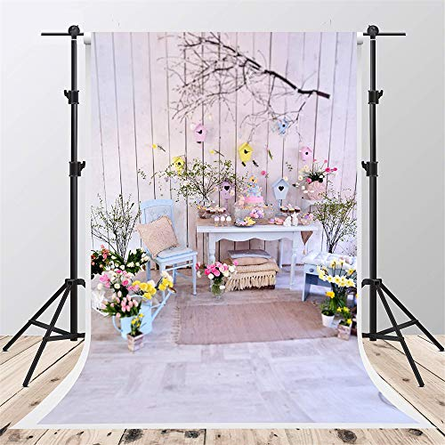 Kate 5x7ft Easter Backdrop for Photographer Wood Floor Background Rabbit Backdrops Props for $<!--$26.00-->