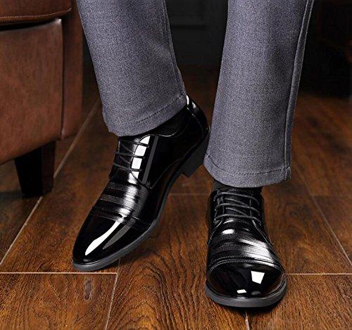 Aumentar En Zapatos Negocios Casuales Calzado Desgaste 2 Antideslizante De Resistente Moda Dentro Hombre Black Inglaterra Al Koyi Cómodo De wWfP8qRwF