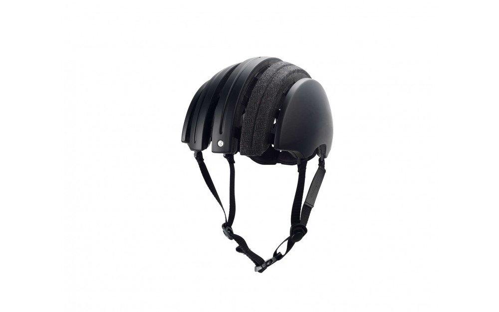 Brooks折りたたみ式ヘルメットCarreraコラボレーションwithファブリックカバー – サイズM – ブラック/グレーヘリンボーン   B01CPXV7Q0