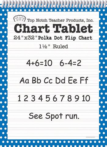 Polka Dot Chart Tablet Blue 1.5 Ruled -- Case of 2 by Top Notch Teacher Products