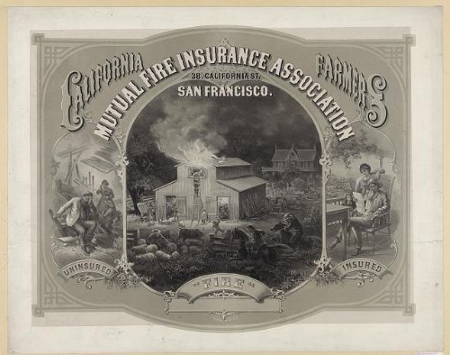 Photo Reprint California Farmers Mutual Fire Insurance Association 1877