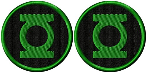 DC Comics The Justice League Green Lantern Logo 2 Pack Patch Gift Set