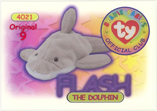 BBOC Cards TY Beanie Babies Series 1 Original 9 (RED) - Flash The Dolphin
