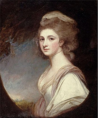 Oil painting 'George Romney - Miss Frances Mary Harford, 1780-83' printing on Perfect effect Canvas , 24x29 inch / 61x74 cm ,the best Study decoration and Home decoration and Gifts (Scary Mary Crafts)
