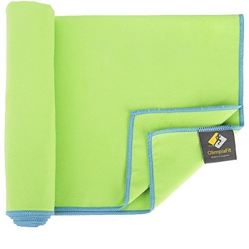 Set of 2 Green - Microfiber Quick Dry Towel - Travel Towels - Camp Towel - Beach Towel - Packs Small - Absorbent - Quick Dry - Microfiber Large and Oversized Towel for Camping, Pool