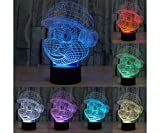 3d Led Illusion Lamp Desk Table Night Light Touch Switch 7 Colors Change with USB for Birthday Christmas(Super Mario)