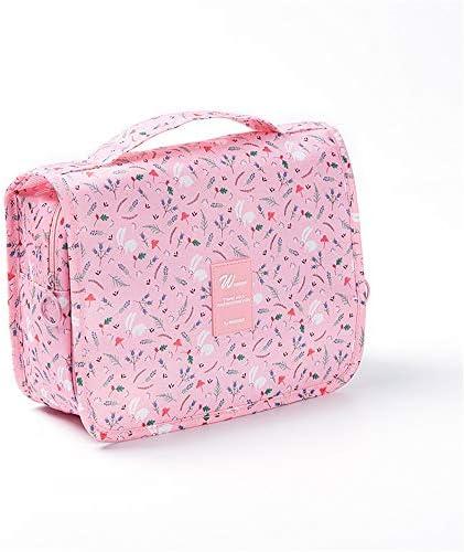 化粧品袋 メイクアップバッグ大小化粧ケーストイレタリーバッグバニティケースパターンZIP形式気質主催ストレージポーチ女性の女の子と 旅行化粧収納ボックス (Color : Pink)