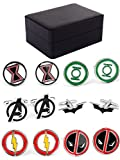 (US) LoveCufflinks Mens' Hero Cufflinks for Men 6 Pair Set with Jewelry Box