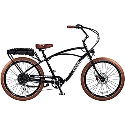"Pedego Interceptor 26"" Classic Black with Brown Balloon Package 48V 15Ah"