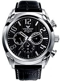 Mens 40347-55 Black Leather Date Watch