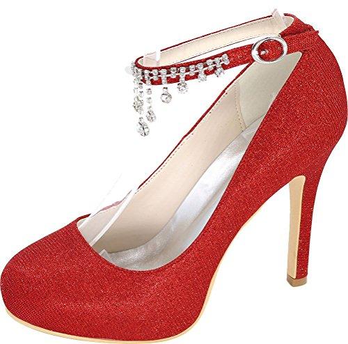 Red Femme Find 5 Nice Rouge 36 EU Plateforme Sandales PqStwSX