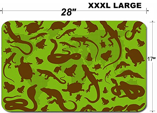 Liili Large Table Mat Non-Slip Natural Rubber Desk Pads Amphibian reptile environmental illustration collection background Photo 11649908