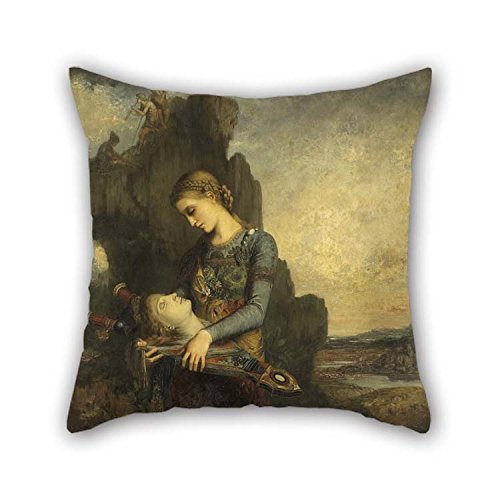beeyoo The Oil Painting Gustave Moreau - Orpheus Pillow Covers of 20 X 20 Inches / 50 by 50 cm Decoration Gift for Deck Chair Sofa Bar Car Seat Deck (Needlepoint Chair Pad)
