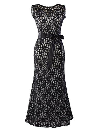 long black and white bridesmaids dresses - 9