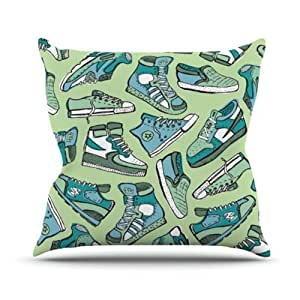 """Kess InHouse Brienne Jepkema """"Sneaker Lover I"""" Outdoor Throw Pillow, 26 by 26-Inch"""