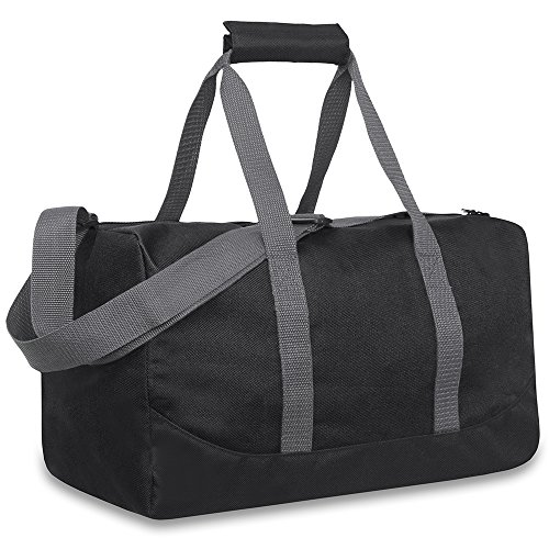 Classic Duffel Bag With Adjustable Strap (BLACK)