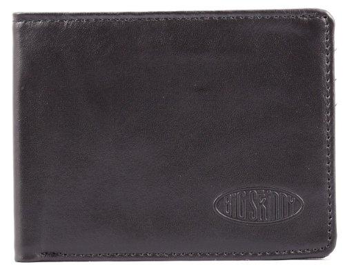 Big Skinny Men's RFID Blocking Slimline Leather Bi-Fold, Holds Up to 25 Cards, Black by Big Skinny