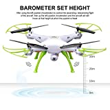 Syma X5HW FPV 2.4Ghz 4CH RC Headless Quadcopter Drone UFO with Hover Function HD Wifi Camera White