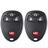 ECCPP 2X 4 Button Replacement Keyless Entry Remote Car Key Fob for Chevy GMC Cadillac Buick Saturn Pontiac Series OUC60270