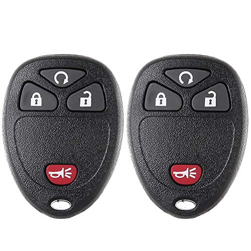ECCPP Replacement fit for Keyless Entry Remote Fob Chevy GMC Saturn Pontiac Torrent Cadillac Escalade Buick Enclave Suzuki XL-7 Series OUC60270 OUC60221 M3N5WY8109 (Pack of 2) ()