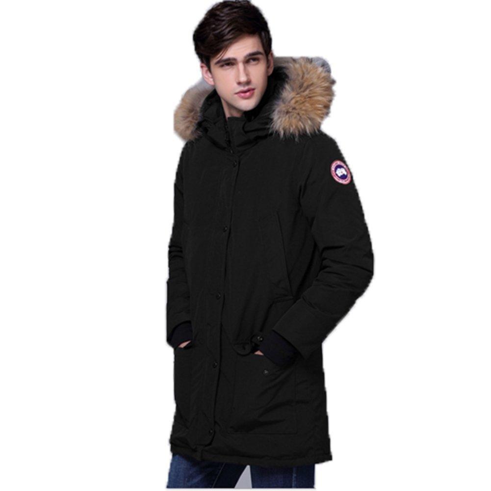 Homme Noir XL OHmais Femme Filles vêteHommest Doudoune Longue Hiver Down veste Manteau de Duvet épaissie Veste matelassée Blouson