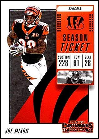69701e34c 2018 Panini Contenders Season Tickets  80 Joe Mixon NM-MT Cincinnati Bengals  Official NFL