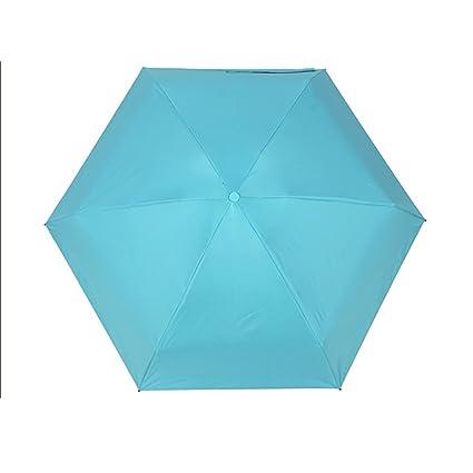 Asdomo - Paraguas de bolsillo plegable de tamaño ultra pequeño - Ligero