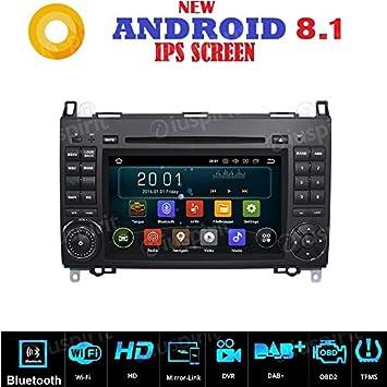 Radio para coche de 2 DIN, con Android 7.1, GPS, DVD, USB y navegador: Amazon.es: Electrónica