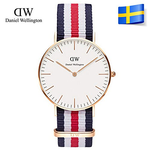Marca Daniel Wellington Casual Relojes Dw 40 mm todos Modelo Mujeres Hombres Nylon Rose Gold Sport reloj de cuarzo Relogios Masculinos: Amazon.es: Relojes