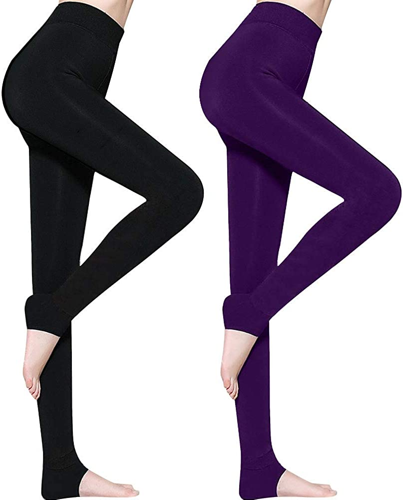NEW WOMENS LADIES STRETCH THICK WINTER THERMAL LEGGINGS FLEECE LINING PLUS SIZE