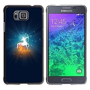 Be Good Phone Accessory // Dura Cáscara cubierta Protectora Caso Carcasa Funda de Protección para Samsung GALAXY ALPHA G850 // Sagittarius Zodiac Sign