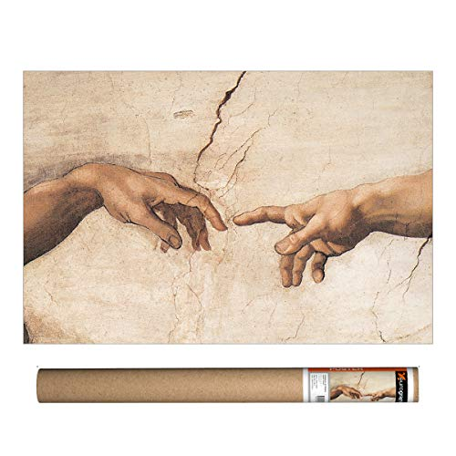 EuroGraphics Michelangelo - Creation-Detail Poster, 36 x 24 inch