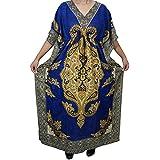 Womens Kimono Dress Caftan Dashiki Print Kaftan Evening Beach Cover Up Maxi Dress