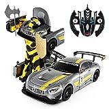 2.4Ghz Radio Control 1/14 Mercedes-AMG GT3 Transformers Model RC Car Robot (Grey)