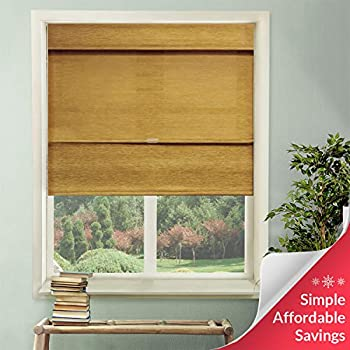 Chicology Cordless Magnetic Roman Shades Privacy Fabric Window Blind, 27