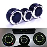 Car A/C Air Conditioning Control Switch Knob for VW Golf MK4 Passat B5 Bora 3pcs
