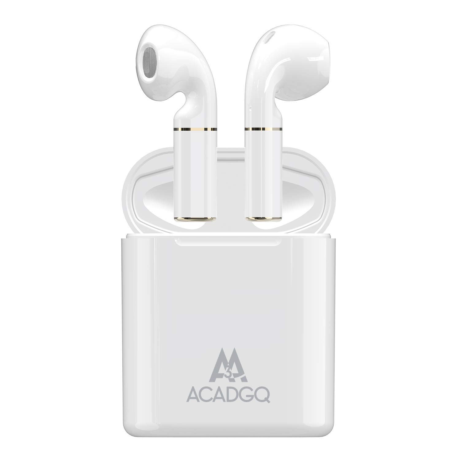 Bluetooth 5.0 Earbuds, ACADGQ Wireless Headphones Stereo Sports Earphone in-Ear Earphones for Running with Built-in Mic(White)