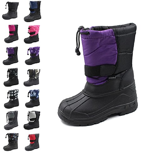 4 Youth 1317 Purple SkaDoo Boys Snow Goer Boots