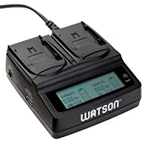 Watson Duo LCD Charger for BP-900 Series Batteries -For Canon BP-900 Series Type Batteries