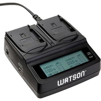Amazon.com: Watson Duo LCD Cargador para pilas tipo BP-900 ...