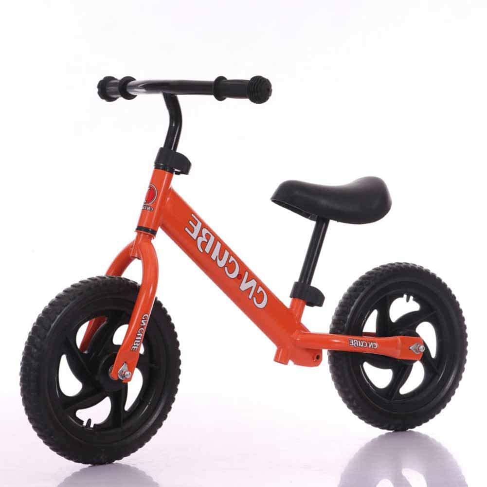 Bicicletas sin pedales Equilibrio de los niños,Dos Rondas de Vespa Walker de 2-6 años-Naranja 32.3inch