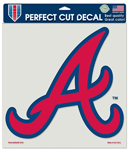 (MLB Atlanta Braves 8-by-8 Inch Diecut Colored Decal)