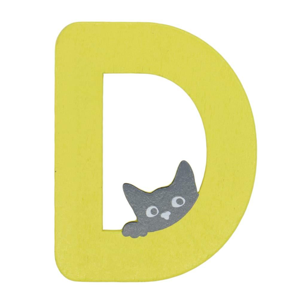 A Brink Holzspielzeug Holzbuchstaben Katze Zimmert/ür Kinderzimmer Holz Buchstaben