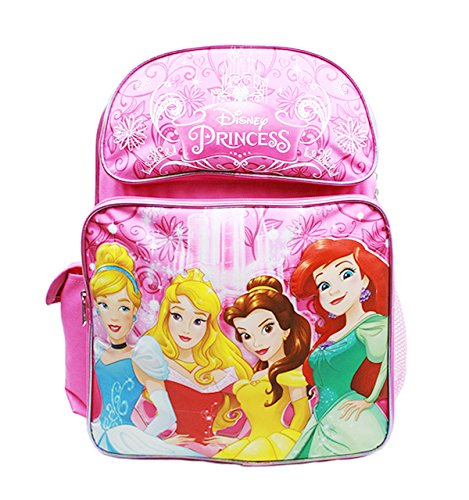 Backpack - Disney Princess - Cinderella Aurora Bella & Ariel New ()