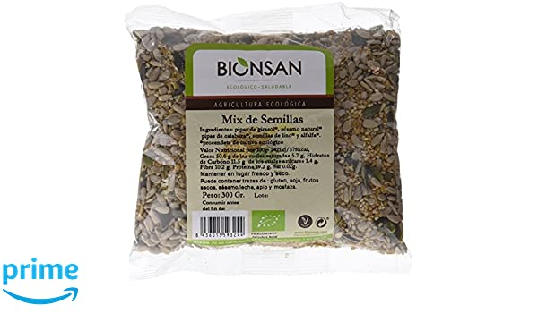 Bionsan Mix de Semillas de Girasol, Calabaza, Lino, Alfalfa ...